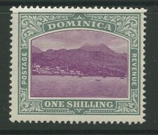 Dominica SG33a 1906 1s magenta and grey-green chalk surfaced paper Mint P14
