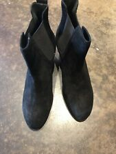 "Rag And Bone Black Suede Ankle Boots 2.75"" Heel 39"
