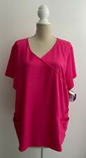 Urbane Uniforms Hot Pink Scrub Top Plus Size 3X New Nwt