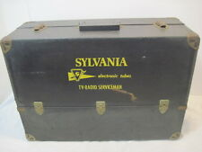 OLD VINTAGE SYLVANIA ELECTRONIC TV RADIO SERVICEMAN TUBE TOOL BOX