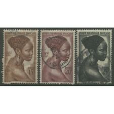 1947 FRENCH EQUATORIAL AFRICA  15-25 Fr. issue used, Yvert # 224-226