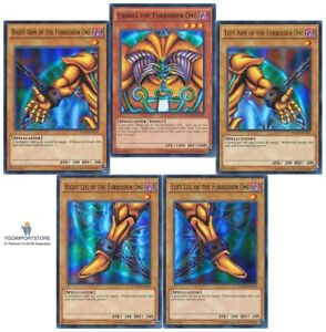 YUGIOH Exodia the Forbidden One Complete Set Holo Foil Ultra Rare YGLD NEW
