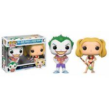 DC Super Heroes The Joker (Beach) & Harley Quinn Pop! Vinyl 2pk - New in stock