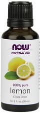 Now Foods 100% Pure Lemon Essential Oil 1 oz (30ml) Citrus Limon FREE SHIP/FRESH