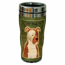 Tree-Free Greetings sg24008 Pit Bull by John W. Golden 16-Ounce Sip 'N Go Sta.