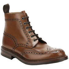 Loake Burnished Calf Bedale Leather Brogue Wingtip Lace-Up Ankle Mens Boots