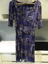 FAT FACE purple grey black abstract tunic dress Size 14 Check measurements