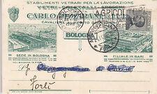 8814) BOLOGNA BARI STABILIMENTI CARLO PIZZIRANI VETRI CRISTALLI SPECCHI VG. 1929