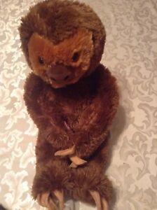 Build A Bear Sloth BAB 18 inch  plush stuffed brown new