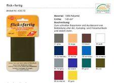 Flick + Fertig Kleiber Reparatur Klebeflicken 100% Nylon Flicken alle Farben