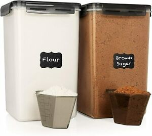 Extra Large 6.5L x 2 Food Storage Airtight Containers - Airtight $39.99 Gray Lid