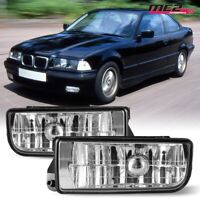For 92-98 BMW 3 Series E36 M3 PAIR OE Factory Fit Fog Light Bumper Clear Lens