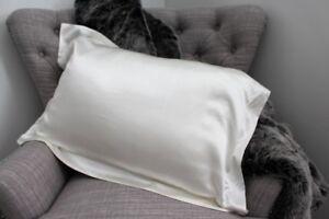 ON SALE! Pure Silk Tailored Pillowcase Pillow Slip Pearl White