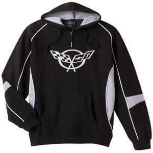 C5 Corvette Black and Gray Cotton/Polyester Sweatshirt Hoodie