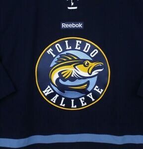 Toledo Walleye Game Authentic Hockey Jersey Reebok Real Fish ECHL 54 Pro Blank