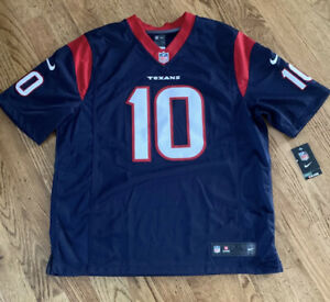 Deandre Hopkins Nike On Field Stitched Jersey #10 Men's Size XL Houston Texans
