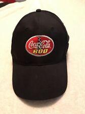NEW Coca Cola 600 Coke Hat Adjustable Cap NASCAR Black Embroidered