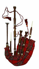 Scottish Bagpipes Rosewood Natural Finish Plain Mounts Bagpipe Reeds,Drone Book