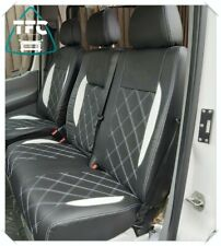 RED DIAMOND SEAT COVERS BLACK TO FIT A VW CRAFTER 2011 VAN