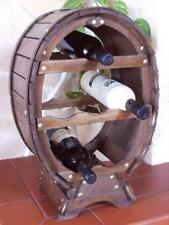 Botellero para vino Recipiente 6 Botellas Marrón Manchado 55cm Barril Barra