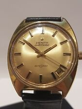 A Gentlemans Vintage Stainless Steel/Gold Mans Zenith Auto Sport Boxed