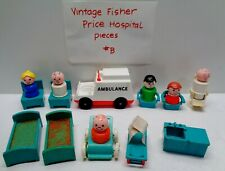 VINTAGE Fisher Price Little People PLAY FAMILY HOSPITAL ACCESSORIES WITH SCREEN