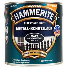 0,25L Hammerite Metallschutz Lack anthrazitgrau RAL 7016 matt