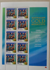 OLYMPIC 2000 GOLD MEDAL STAMP SHEETS 4x200 mt.SWIMMING freestyle NEW.