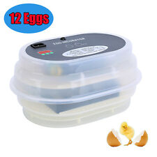 Mini 12 Digital Automatic  Chicken Goose Duck Poultry Egg Thermosta Incubator UK