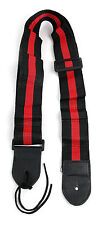 Black & Red Stripe Universal Guitar Strap For Acoustic Electric Bass Classical