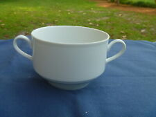 5 Winterling Bavaria Solid White Double Two Handle Soup Cream Mug Cup Bowl