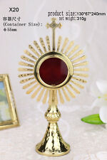 + Nice Brass ornate Monstrance Reliquary for church or home X20