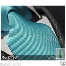 New Men's Designer Turquoise Blue Silk Tie Wedding Ties Gift