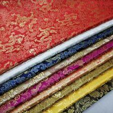 Oriental Chinese Fabric Dragon Brocade Kimono Hanfu Cheongsam Dress DIY