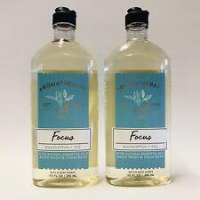 2 Bath & Body Works Aromatherapy Focus Eucalyptus Tea Body Wash & Foam 10 oz