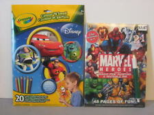 Color Smell + Magic Pen Books Disney Cars Story Monster Incredible Marvel Heros