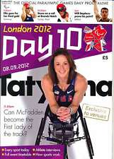 PARALYMPIC GAMES DAY 10 TEN DAILY PROGRAMME LONDON 2012
