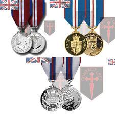 Queens Silver Golden Diamond Jubilee Miniature Medals and Ribbon ( UK Made