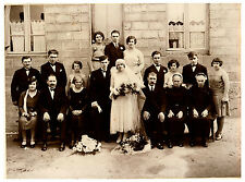 Photo ancienne retirage photo de mariage année 30  costumes et coiffes