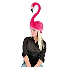 HOT PINK FLAMINGO HAT ADULT ANIMAL BIRD SWAN COSTUME HAT CAP