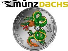 1000 Francs Lunar Silver Year Dragon Cameroon 2012 only 500 zircon zirconia