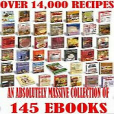 * ULTIMATE 14,000+ COOKBOOK RECIPES * COOKING FOOD EBOOKS TXT/PDF on CD *