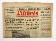 Liberté n°301 - 1963 - Quotidien du parti Communiste - Port Dunkerque accident