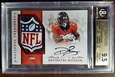 2016 National Treasures Devontae Booker Auto NFL LOGO Patch RC SP 1/1 BGS 9.5