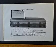 RARE Advertising Trade Catalog Atlantic Coffin Casket 1918 Rose Hill NC Funeral