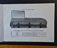 RARE Advertising Trade Catalog Atlantic Coffin Casket 1918 Rose Hill NC Funeral