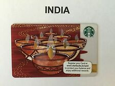 Starbucks Gift Card .. INDIA Diwali .. Pin Intact And Never Swiped With Sleeve