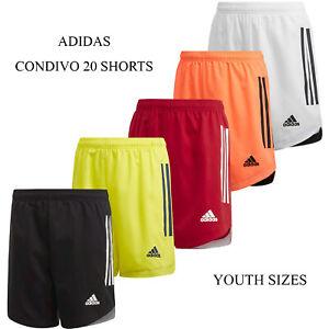 adidas Condivo 20 Youth Soccer Shorts Junior Size Athletic Team Shorts NEW