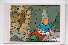 Tintin. Carte postale Tintin et les oursons. TIBET. Moulinsart 044