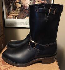 "WESCO VINTAGE 7400 Engineer 10"" Motorcycle boot Black Tie Domain Size 10.5 D"